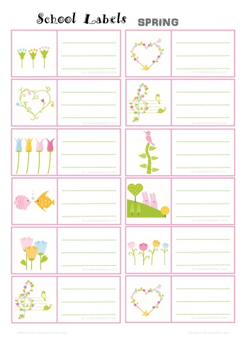 spring school label free printable