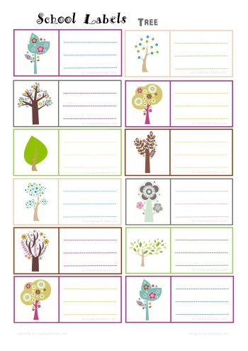 tree school label free printable