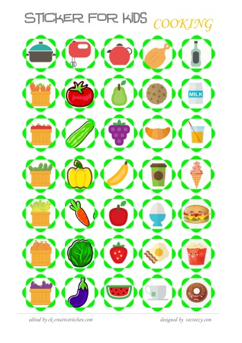 reward sticker for kids cooking