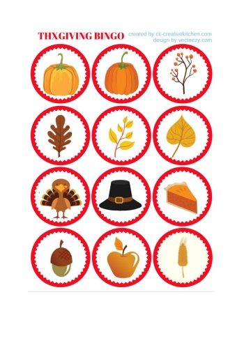 photograph regarding Thanksgiving Bingo Printable identify Thanksgiving - Bingo card absolutely free printables - Innovative Kitchen area