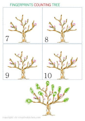 fingerprint counting free printable tree