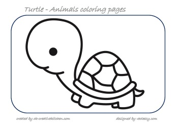 turtle animals coloring pages