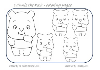 winnie the pooh counting coloring pages