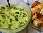 Ramsons cream soup