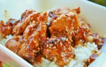 Honey and hot sesame chicken