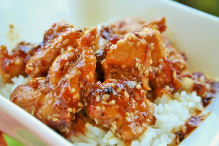 Honey and hot sesame chicken