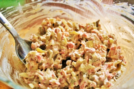 Russian meat (Olivier) salad