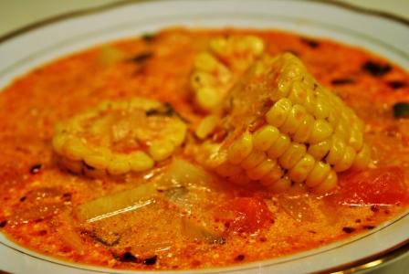 Peruvian corn soup