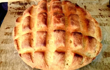 Italian homemade cornbread (Pane di granturco)