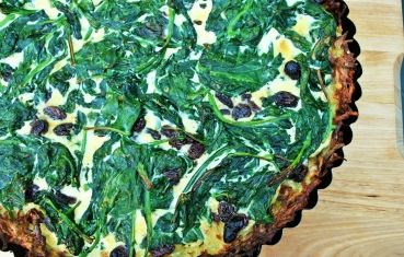 Spinach potato gratin