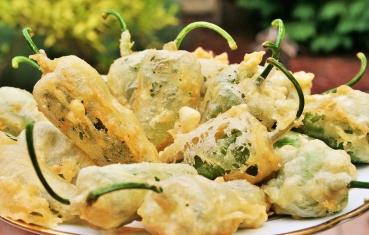 Padron pepper tempura
