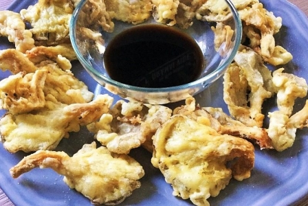 Oyster mushroom tempura