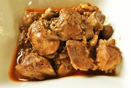 Chicken liver stew