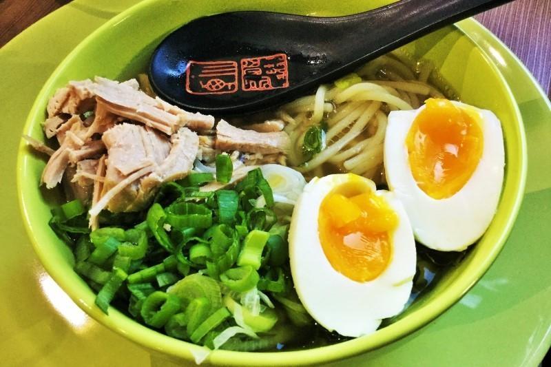 Ramen pork and noodle soup