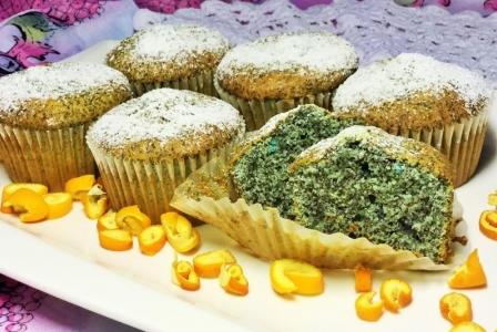 Poppy seed cupcake