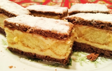 Orange sponge finger slice