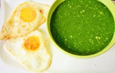 Creamy spinach pottage