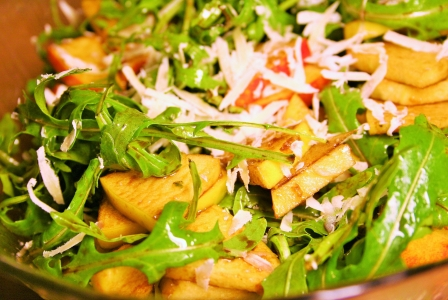 Aragula apple salad