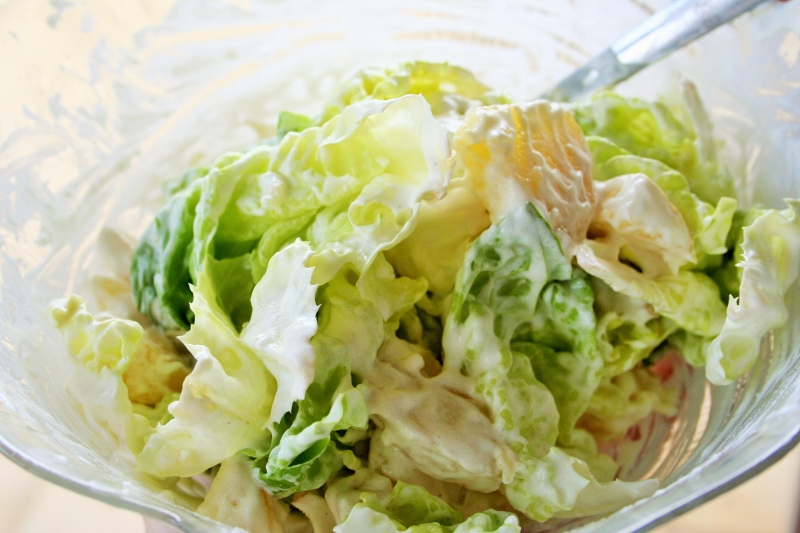 Lettuce and potato salad