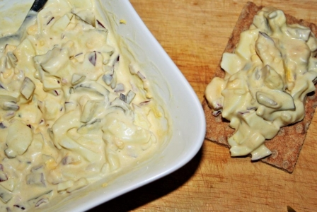 Egg salad with mayonnaise