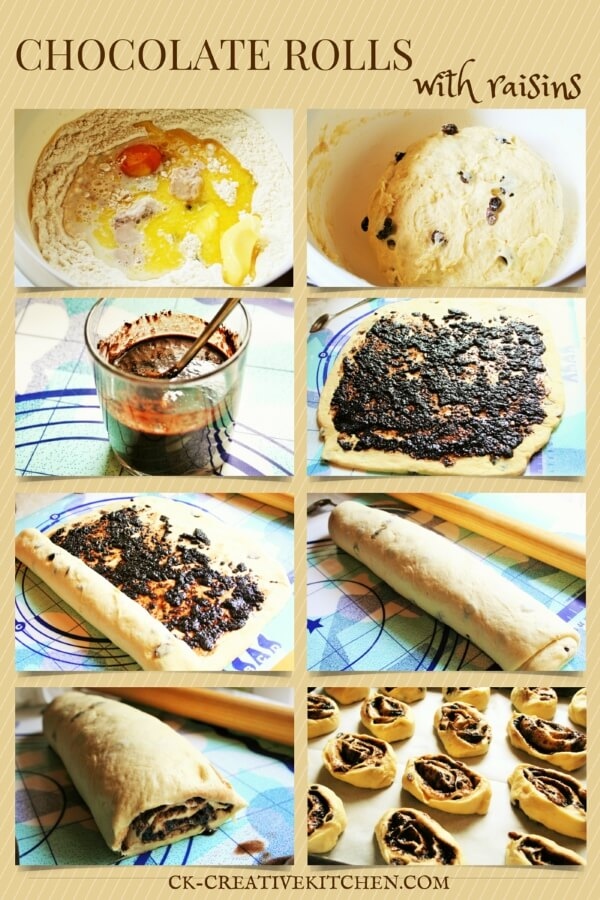 how to prepare chocolate rolls
