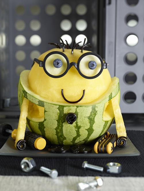 watermelon food art minion