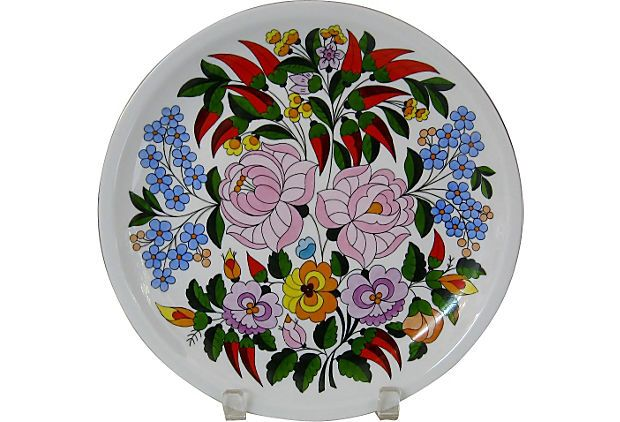 wall plate,paprika,kalocsa,decoration