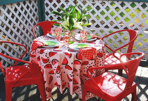 watermelon decoration tablecloth