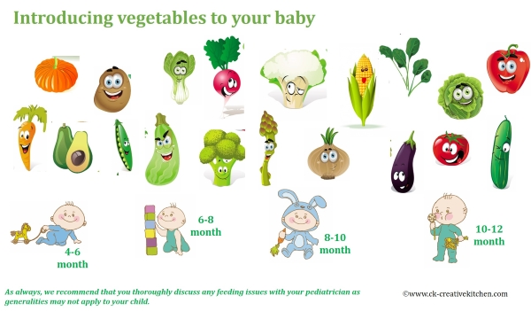 baby,food,introducing,infographic,vegetable
